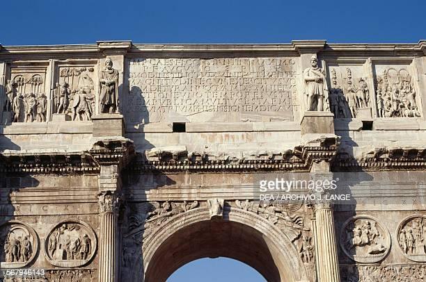 The main inscription on the Arch of Constantine 315 AD Rome's historic centre Italy Roma Museo Nazionale Romano Palazzo Altemps