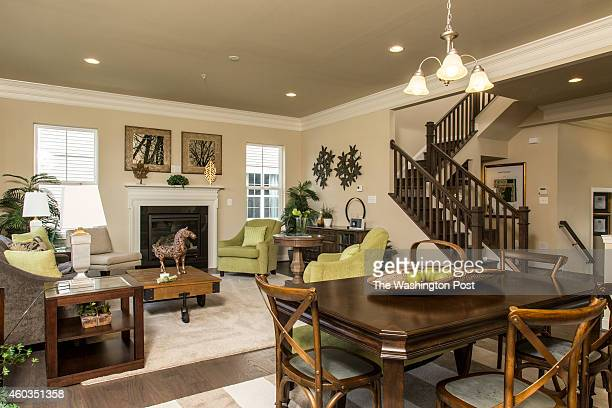 The Main Living Area and Stairs in the Chevy Chase Model Home at Layhill Overlook on December 14 2014 in Aspen Hill Maryland