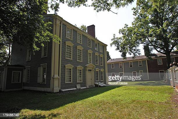 The main mansion is on the left with the slave house on the right of the Royall House and Slave Quarters a historic house and museum in Medford It...