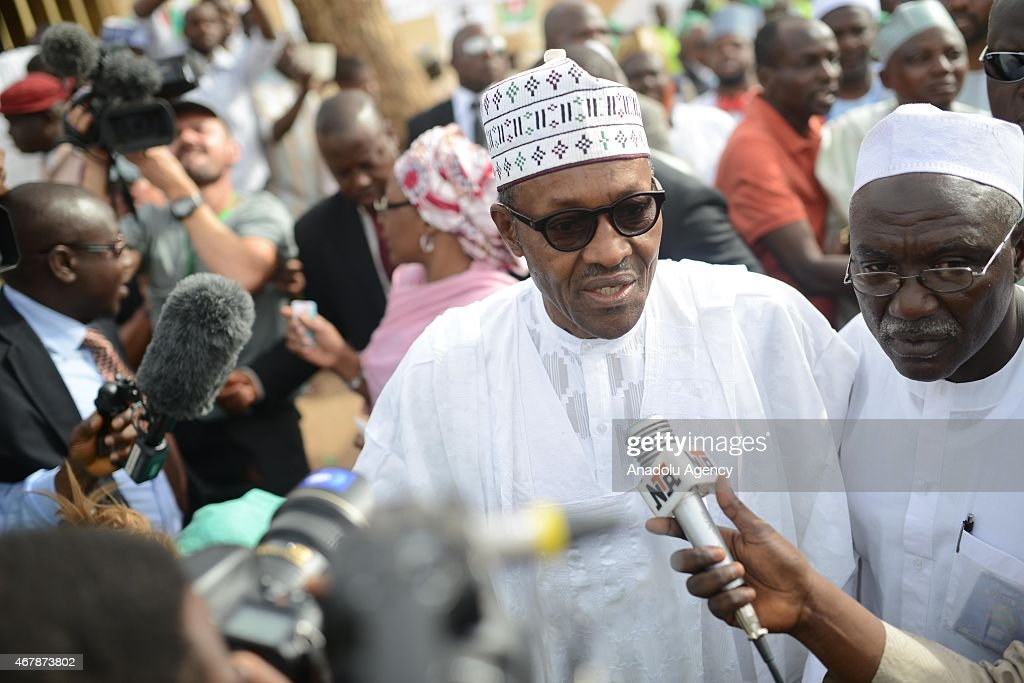 Nigerian Presidential Elections : News Photo