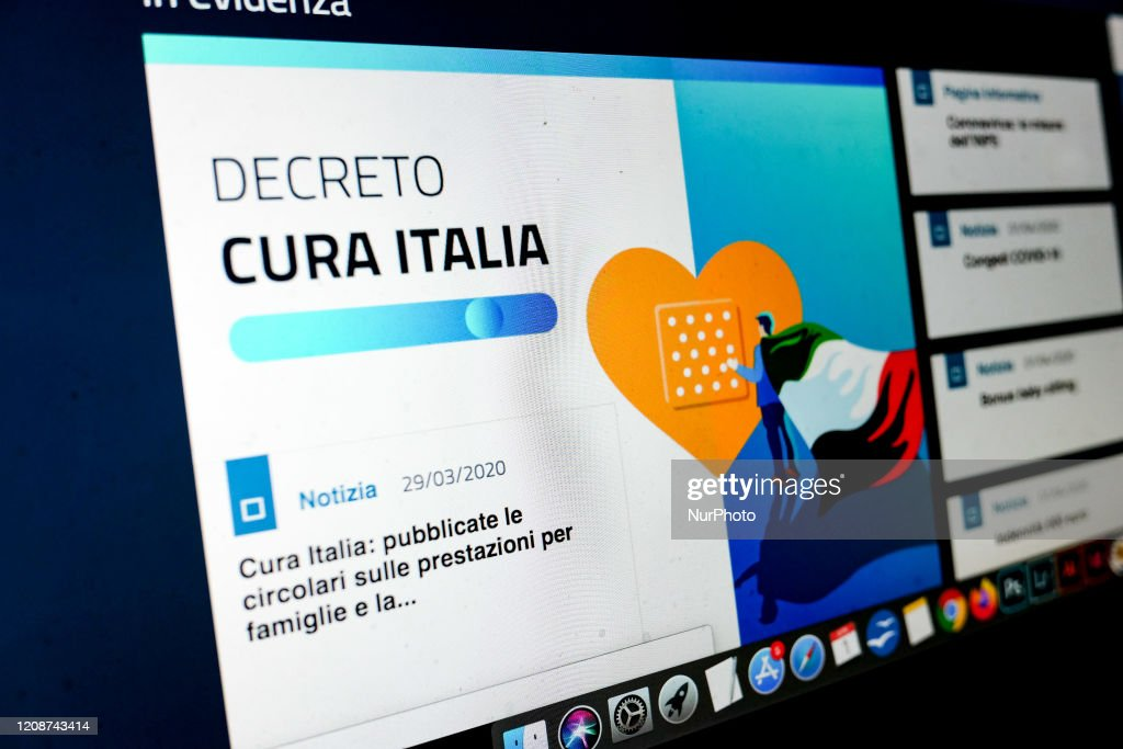 INPS - Decreto Cura Italia : News Photo