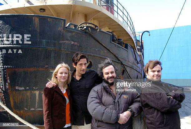 The main players in the remake of the movie King Kong Naomi Watts as Ann Darrow Adrien Brody as Jack Driscoll Peter Jackson the director and Jack...