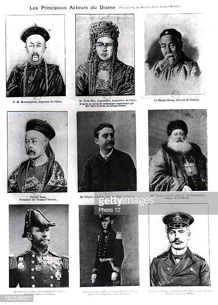 The main players of the drama in 'L'Illustration' China Boxer Rebellion Private collection