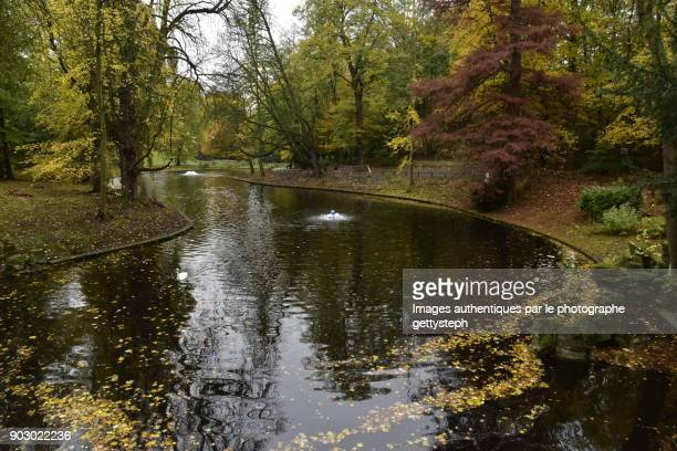 The main pond of Josaphat Park in autumn