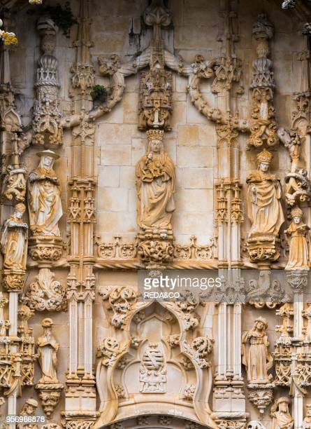 The Main Portal Convent of Christ Convento de Cristo in Tomar It is part of the UNESCO world heritage Europe Southern Europe Portugal April