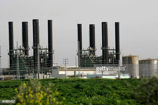 The main power plant is seen April 22 2008 in AlNusairat Gaza Strip Israeli and Palestinian human right groups have warned that the power plant will...