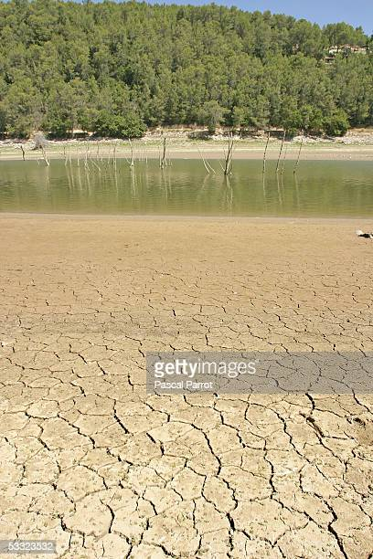 The main reservoir supplying drinking water for the southern French city of Toulon stands almost empty as drought conditions continue to plague...