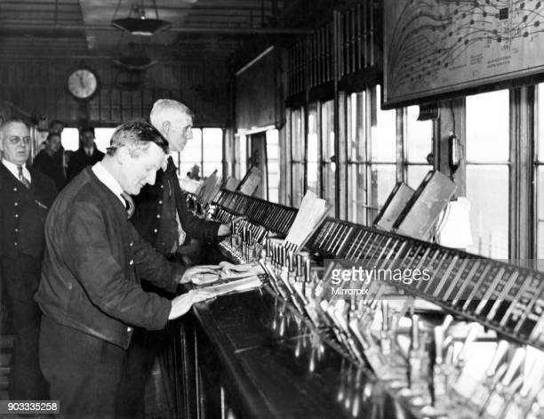 The main signal box at Central Station Newcastle 6th May 1938