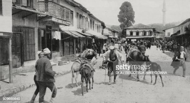 The main square and street in Valona Albania photograph by Aldo Molinari from L'Illustrazione Italiana Year XL No 21 May 25 1913