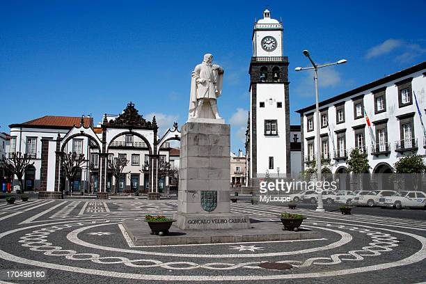 The Main Square In Downtown Ponta Delgada The Largest City In The Azores Islands Portugal
