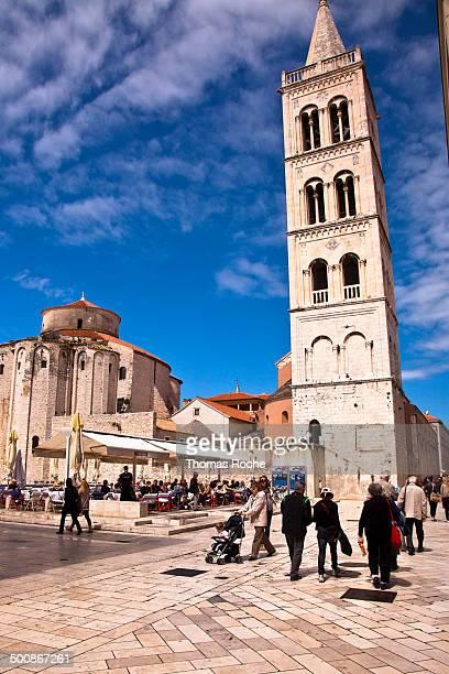 The main square in Zadar, Croatia