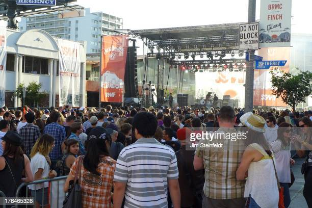 The main stage at the Sunset Strip Music Festival in Los Angeles California on August 3 2013