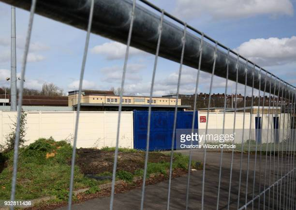 The main stand can be seen through railings that have been erected outside Champion Hill to ward off fans whilst they row with the stadium owners at...