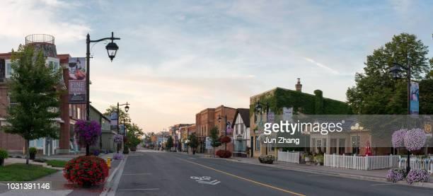 マーカム、オンタリオ州、カナダの古い城下町のメインストリート - マーカム ストックフォトと画像