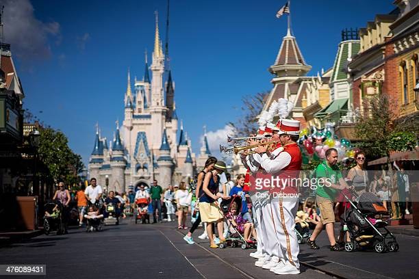 CONTENT] The Main Street Philharmonic entertains guests at the Magic Kingdom Walt Disney World Florida