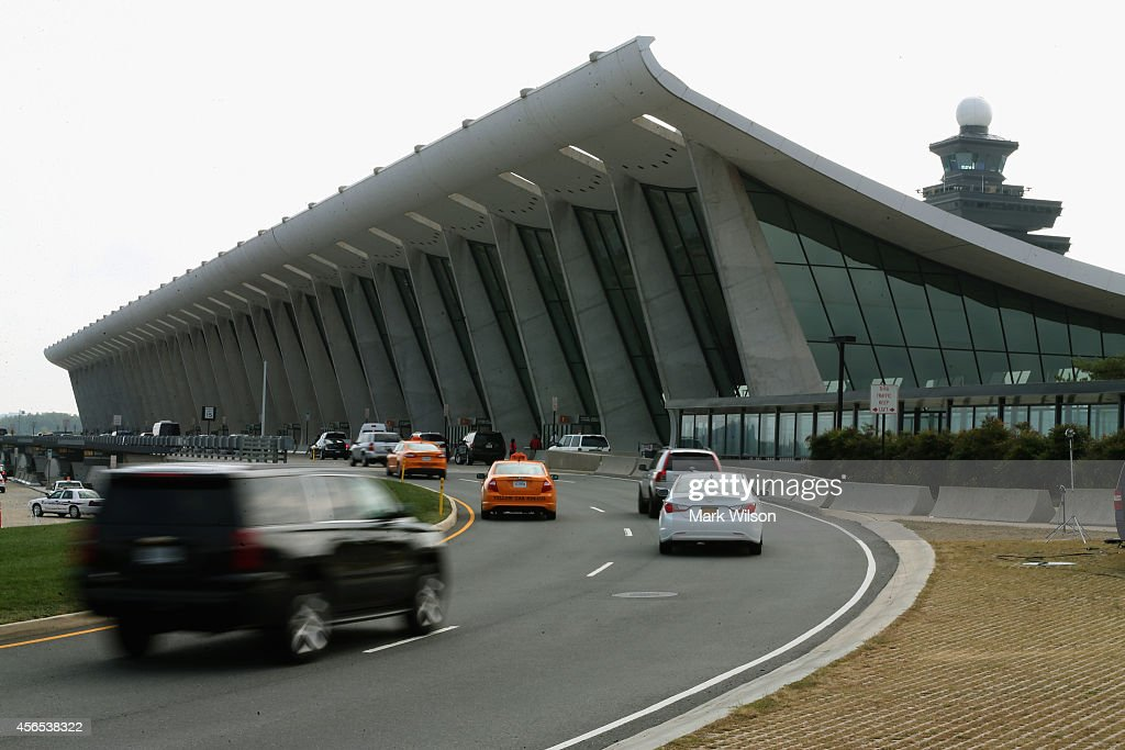The main terminal at Washington Dulles International Airport is shown October 2, 2014 in Dulles, Virginia. The Center for Disease Control CDC announced that Ebola patient being treated at theTexas Presbyterian hospital passed through Washington Dulles airport on a United Airlines flight two weeks ago.