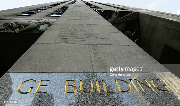 The main tower of Rockefeller Center headquarters of General Electric owner of NBC Universal is seen December 3 2009 in New York City Comcast...