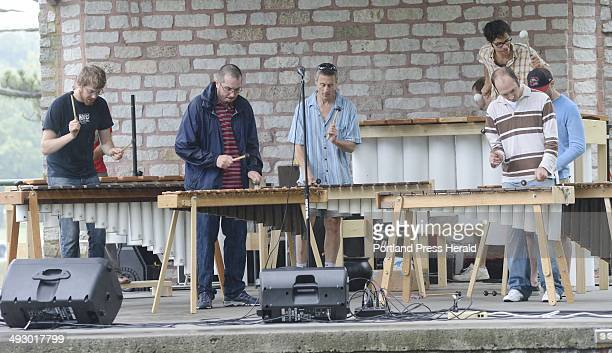 The Maine Marimba Ensemble performs during 10th Annual Greater Portland Festival of Nations at Deering Oaks Park Sunday July 29 2012