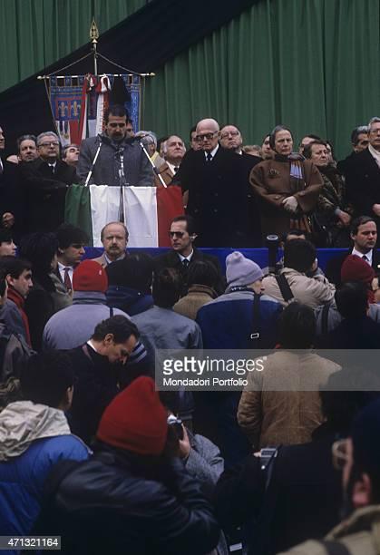 The maior of Bologna Renzo Imbeni, the President of the Italian Republic Sandro Pertini, the President of the Chamber of Deputies of the Italian...