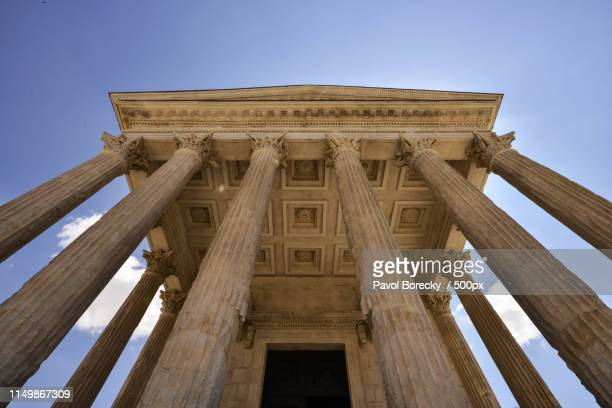 the maison carree nimes á - nimes stock pictures, royalty-free photos & images