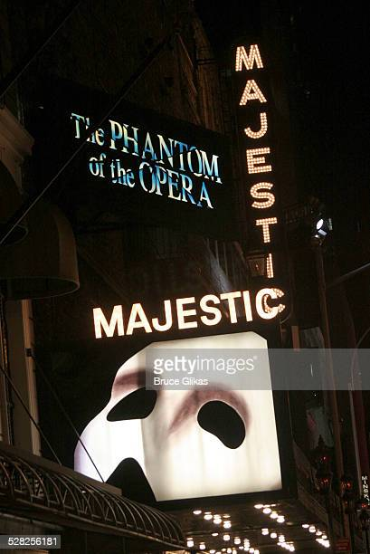 The Majectic Theater during Phantom of the Opera Becomes the Longest-Running Show on Broadway at The Majestic Theatre in New York City, New York,...
