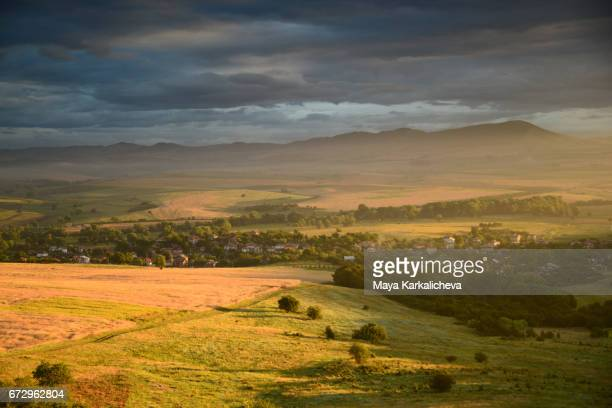 The majestic Bulgarian countryside under a dramatic sky