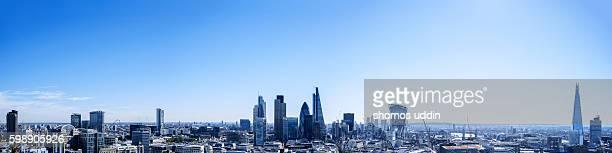 The majestic city skyline of London