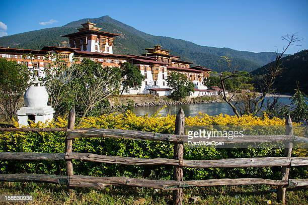 The Majestic Monasteryfortress the Palace of Great Happiness in Punakha the country's old capital which is about two hours away from Thimphu on...