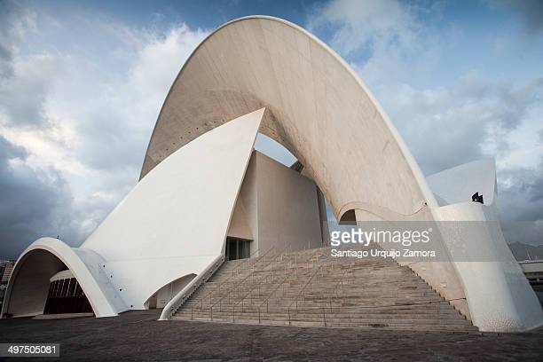 The majestic profile of the auditorium of Tenerife in the southern part of Port of Santa Cruz de Tenerife