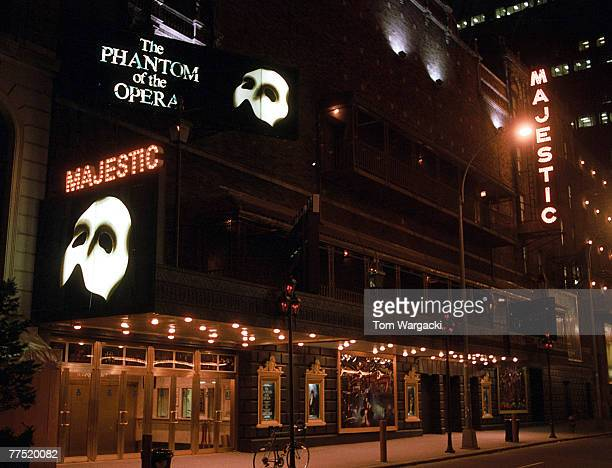 The Majestic Theatre in New York Showing 'The Phantom Of The Opera' 1980's