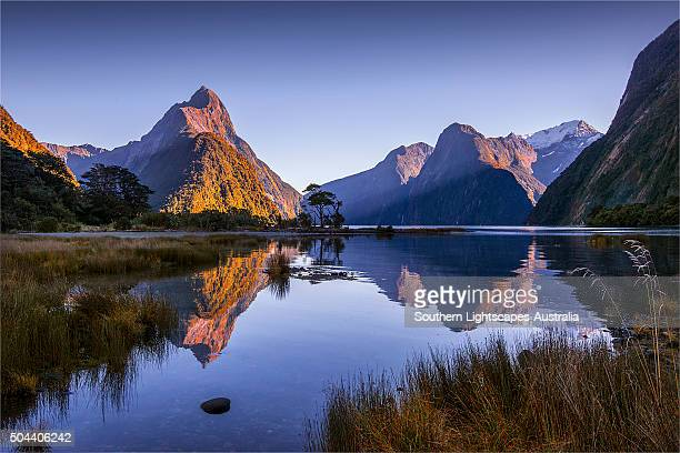The majestic view of milford sound in the Fiordland national park, south island, New Zealand.