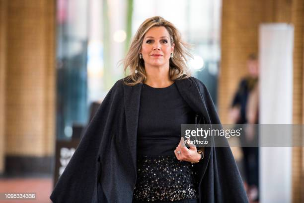 The Majesty Queen Máxima attends Fintech for Inclusion Global Summit 2019 part of the program in her role as Special Advocate of the United Nations...