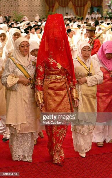 The Majlis Istiadat Berinai Pengantine Diraja Ceremony Prior To The Wedding Of Prince Haji AlMuhtadee Billah The Crown Prince Of Brunei Darussalam...