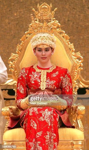 The Majlis Istiadat Berinai Pengantine Diraja Ceremony Prior To The Wedding Of Prince Haji AlMuhtadee Billah The Crown Prince Of Brunei Darussalam...