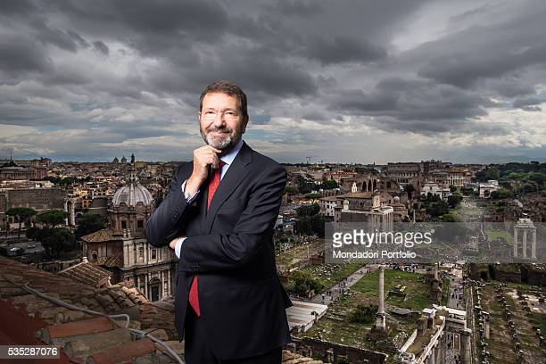 The major of Rome Ignazio Marino with a view of Rome behind him Rome Italy 2nd October 2015
