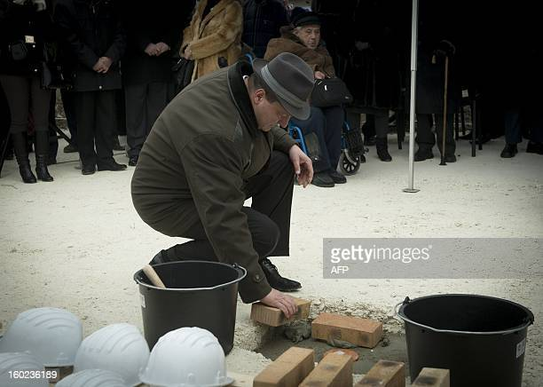 The Major of the district of Csepel Szilard Nemeth placed the foundationstone of a new synagogue in Csepel Budapest on January 27 2013 This synagogue...