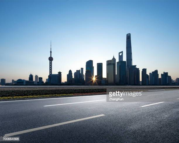 The major road of Shanghai