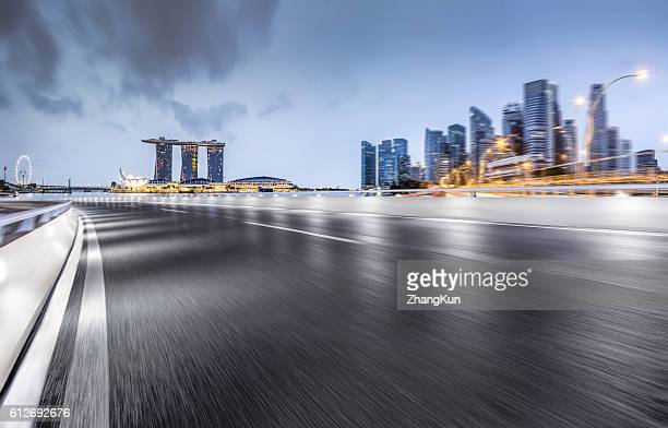 the major road - singapore cbd stock pictures, royalty-free photos & images