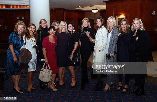 The majority of the European Team wives L-R: Alison McGinley , Marian Jimenez , Allison Micheletti , Laurae Westwood , Holly Sweeney , Caroline...