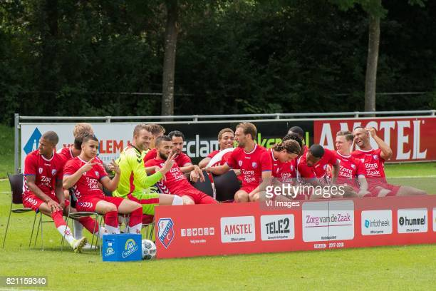 the making of the teamphoto during the team presentation of FC Utrecht on July 22 2017 at Sportcomplex Zoudenbalch in Utrecht The Netherlands