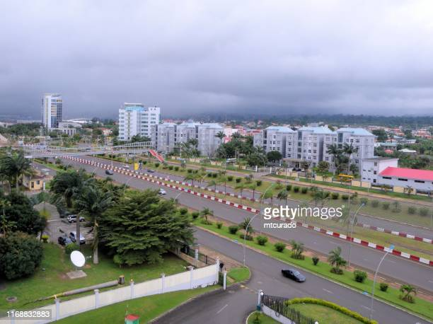 the malabo motorway / autopista de malabo - malabo, equatorial guinea - equatorial guinea stock pictures, royalty-free photos & images