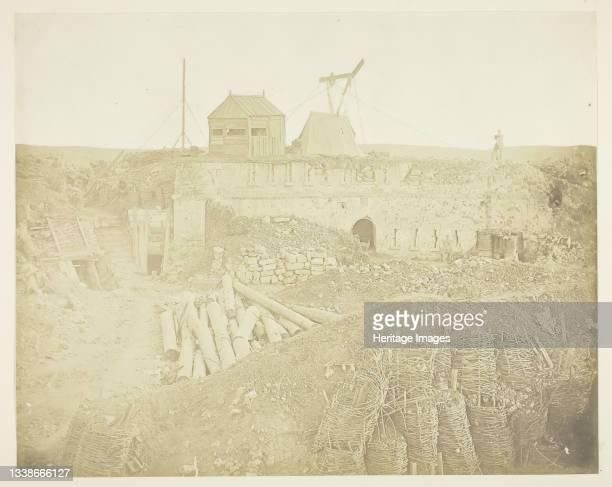 The Malakoff Tower, 1855. Scene from the Crimean War. Albumen print. Artist James Robertson.