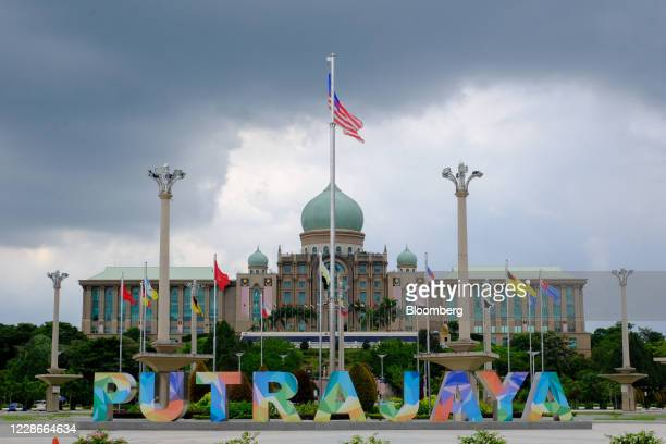 The Malaysia flag flies near the Perdana Putra the office complex of the Prime Minister of Malaysia in Putrajaya Malaysia on Wednesday Sept 23 2020...