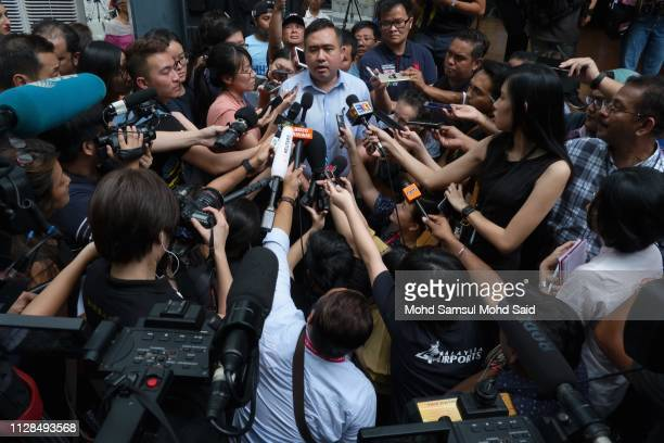 The Malaysia Minister of Transport Anthony Loke speaks to the media at news conference during a 5 Years of Remembrance for Malaysian Airlines MH370...