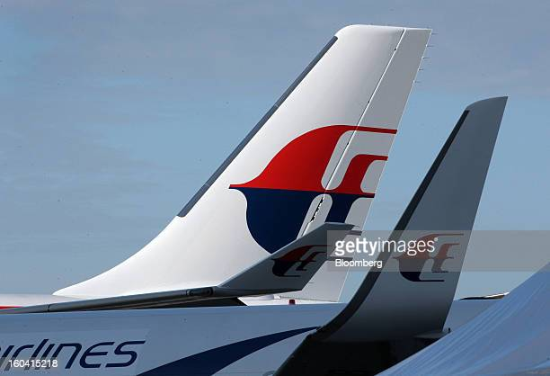 The Malaysian Airline System Bhd logo is displayed on the company's Airbus A330300 aircraft at Kuala Lumpur International Airport in Sepang Malaysia...