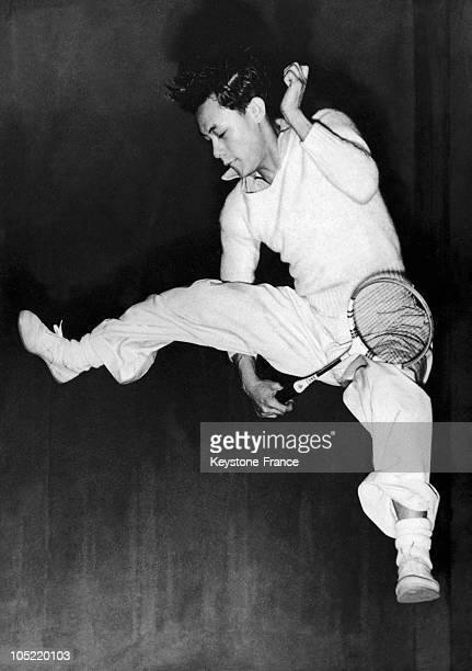 The Malaysian Badminton Champion Eddie Choong In Wimbledon In 1951