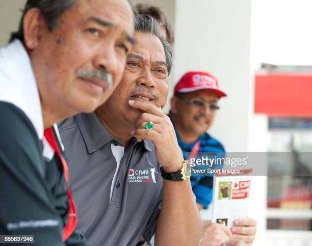 The Malaysian Deputy Prime Minister Tan Sri Muhyiddin Yassin at lunch in the Langkawi Suite during Round 3 of the CIMB Asia Pacific Classic 2011 at...
