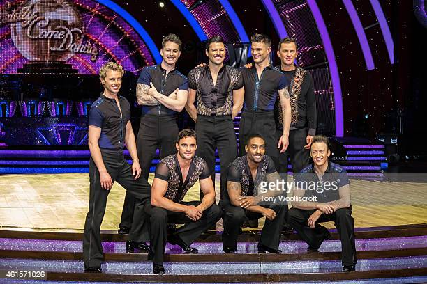 The male dancers of Strictly Come Dacing 2015 attends a photocall to launch the Strictly Come Dancing Live Tour 2015 at Birmingham Barclaycard Arena...