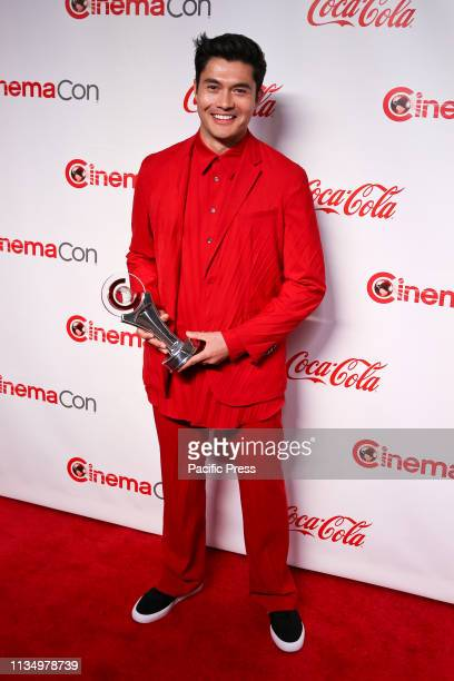 The 'Male Star of Tomorrow' awardee actor Henry Golding during the CinemaCon Big Screen Achievement Awards at Omnia Nightclub at Caesars Palace...