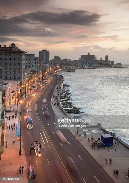 The Malecon of Havana at dusk